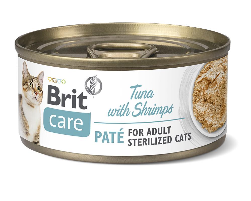 Brit Care Cat Sterilized, Tuna Paté with Shrimps 70g