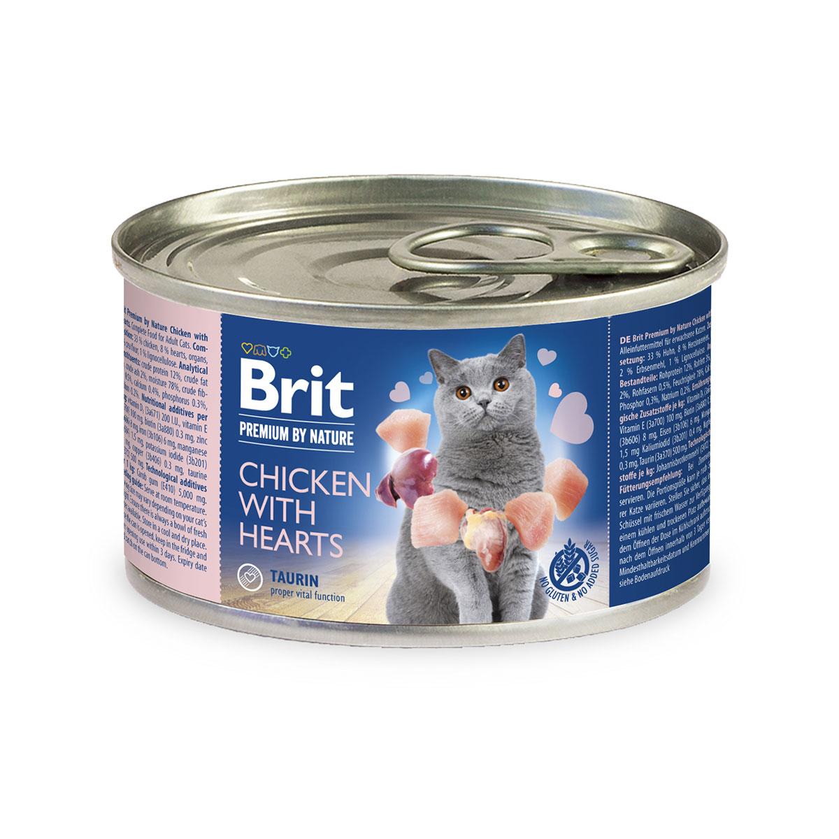 Brit Premium by Nature Chicken with Hearts200g