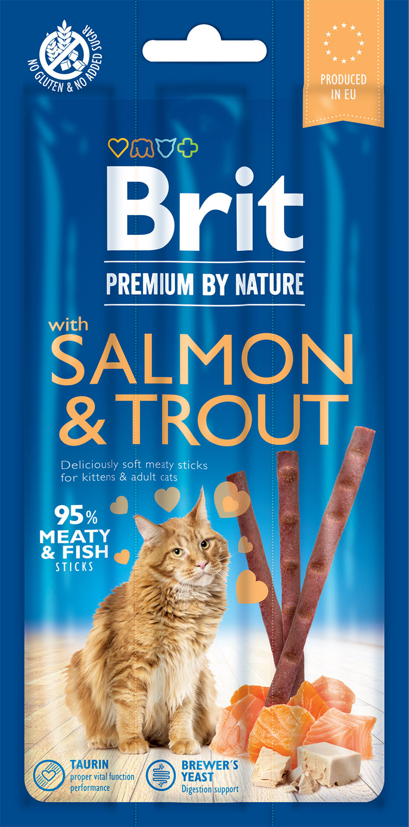 Brit Premium by Nature Cat Sticks with Salmon & Trout 3ks