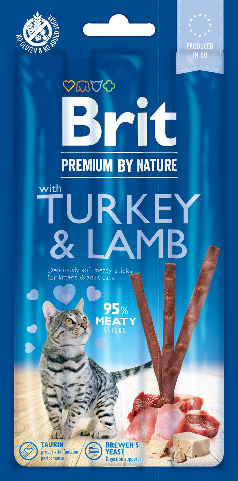Brit Premium by Nature Cat Sticks with Turkey & Lamb 3ks