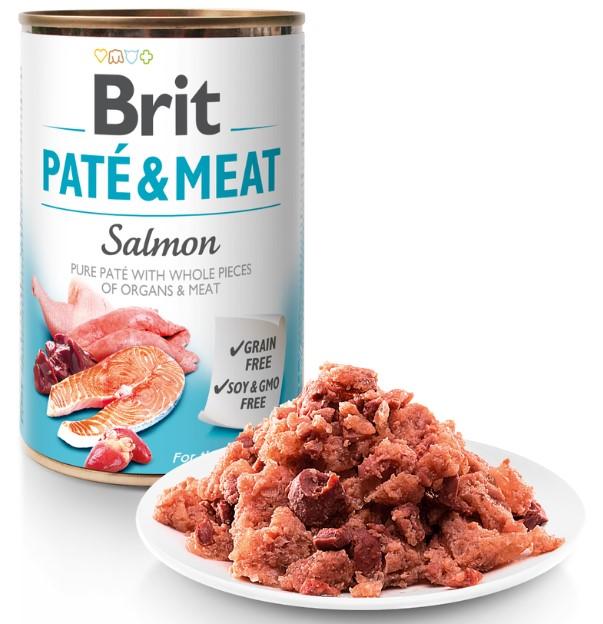 Brit Paté & Meat Salmon 800g 5+1 ZDARMA