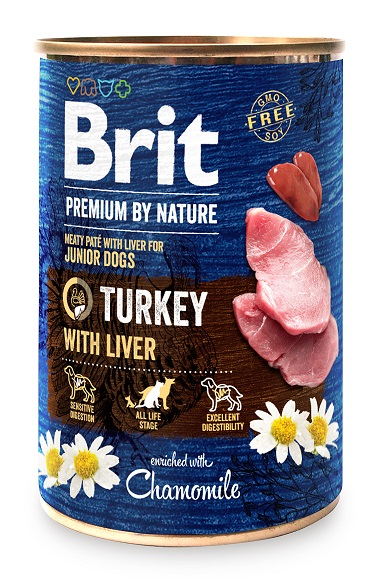 Brit Premium by Nature Turkey with Liver 400g 5+1 ZDARMA