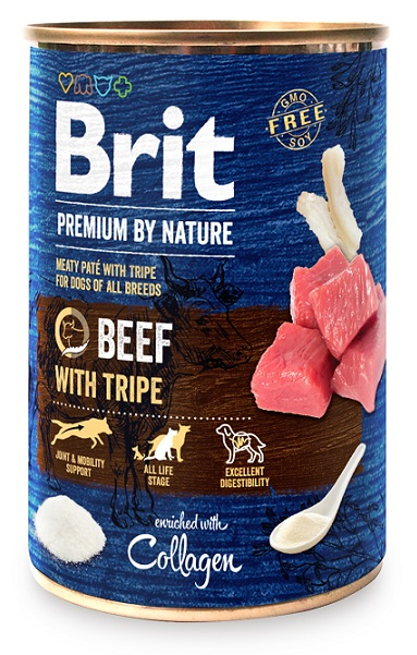 Brit Premium by Nature Beef with Tripes 400g 5+1 ZDARMA