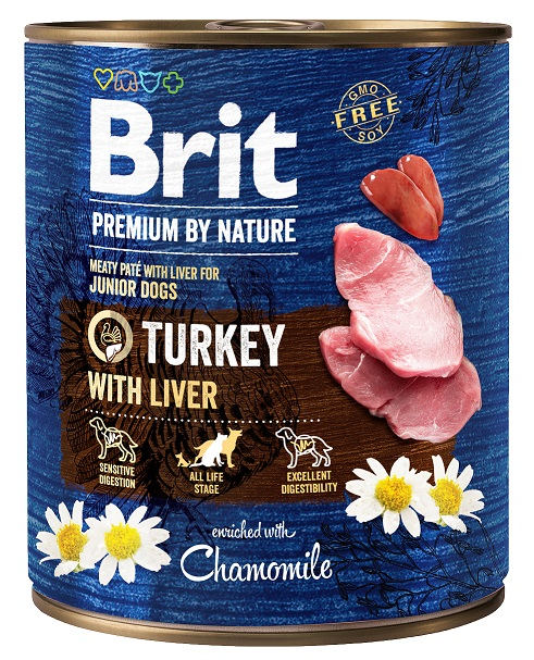 Brit Premium by Nature Turkey with Liver 800g 5+1 ZDARMA