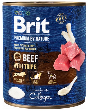 Brit Premium by Nature Beef with Tripes 800g 5+1 ZDARMA
