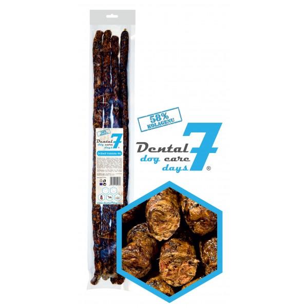 Dental DOG Care 7 days Drůbeží klobáska 50cm průměr 1,5cm 4ks