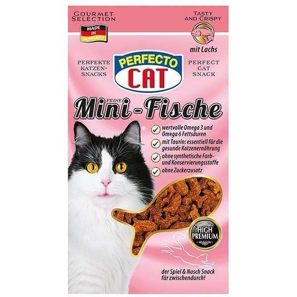 Perfecto Cat Feine Mini-Snack s Lososem 50g