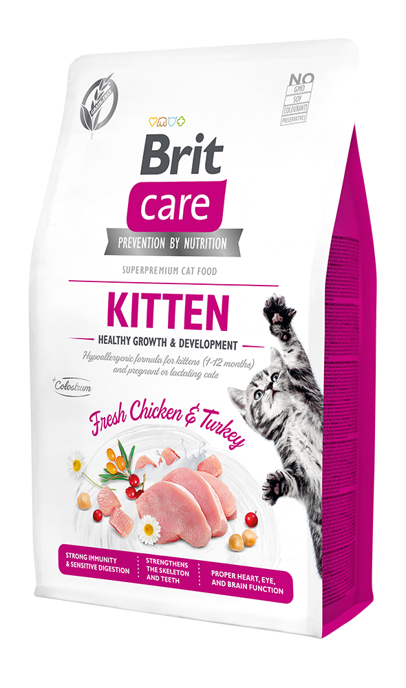 Brit Care Cat Grain-Free Kitten Healthy Growth & Development 2kg + 400g ZDARMA