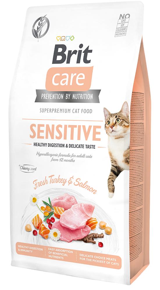 Brit Care Cat Grain-Free Sensitive Healthy Digestion & Delicate Taste 7kg