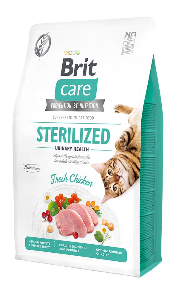 Brit Care Cat Grain-Free Sterilized Urinary Health 2kg + 400g ZDARMA