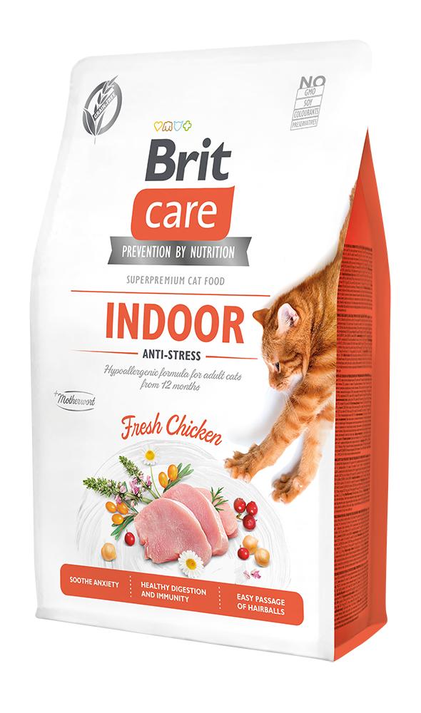 Brit Care Cat Grain-Free Indoor Anti-stress 2kg + 400g ZDARMA