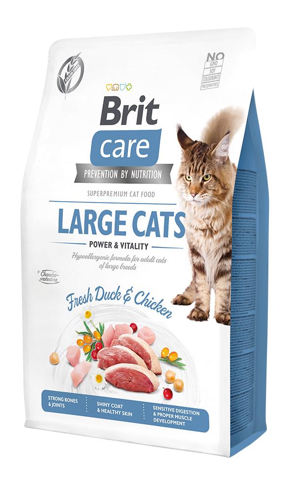 Brit Care Cat Grain-Free Large cats Power & Vitality 2kg + 400g ZDARMA
