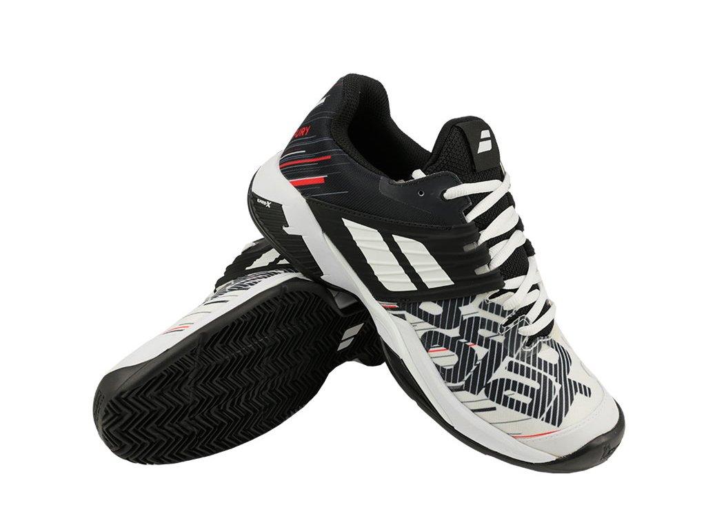 panska tenisova obuv babolat propulse fury clay white black