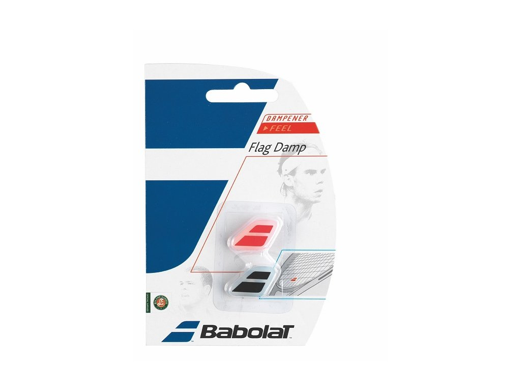 Babolat FLAG DAMP 1+1 fluo red, black