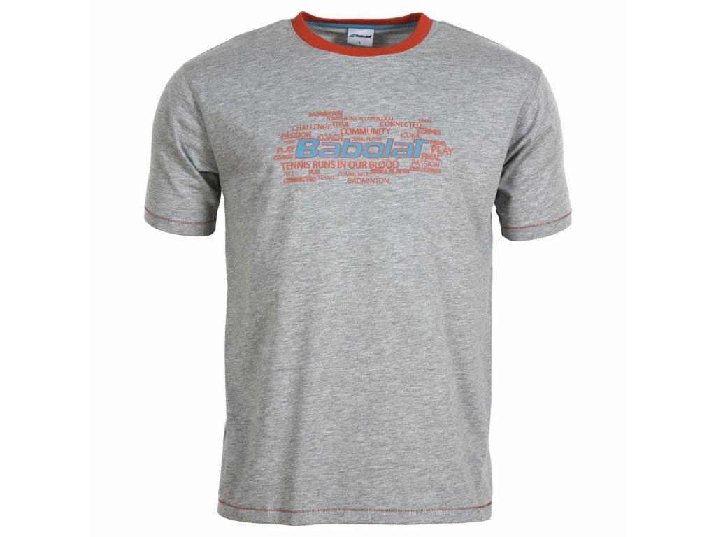 pánské tričko Babolat Tee-Shirt Training Basic Men - šedá (Oblečení pánské XL)