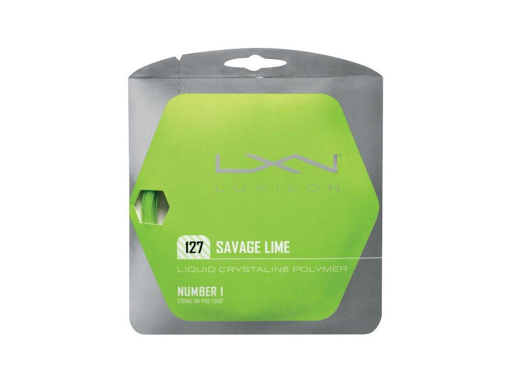 Tenisový výplet Luxilon Savage Lime 12m