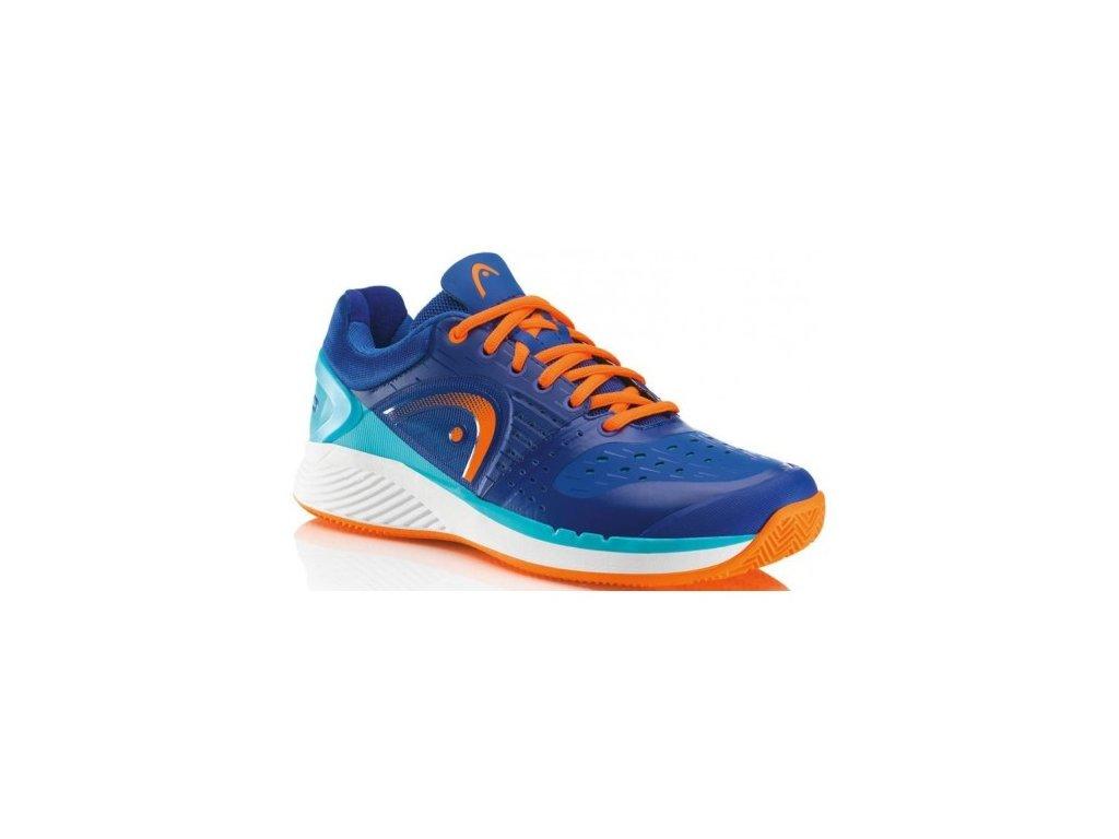 Tenisová Obuv HEAD Sprint Pro Clay Court blue/shocking orange (Velikost pánské UK 13 EU 48,5)