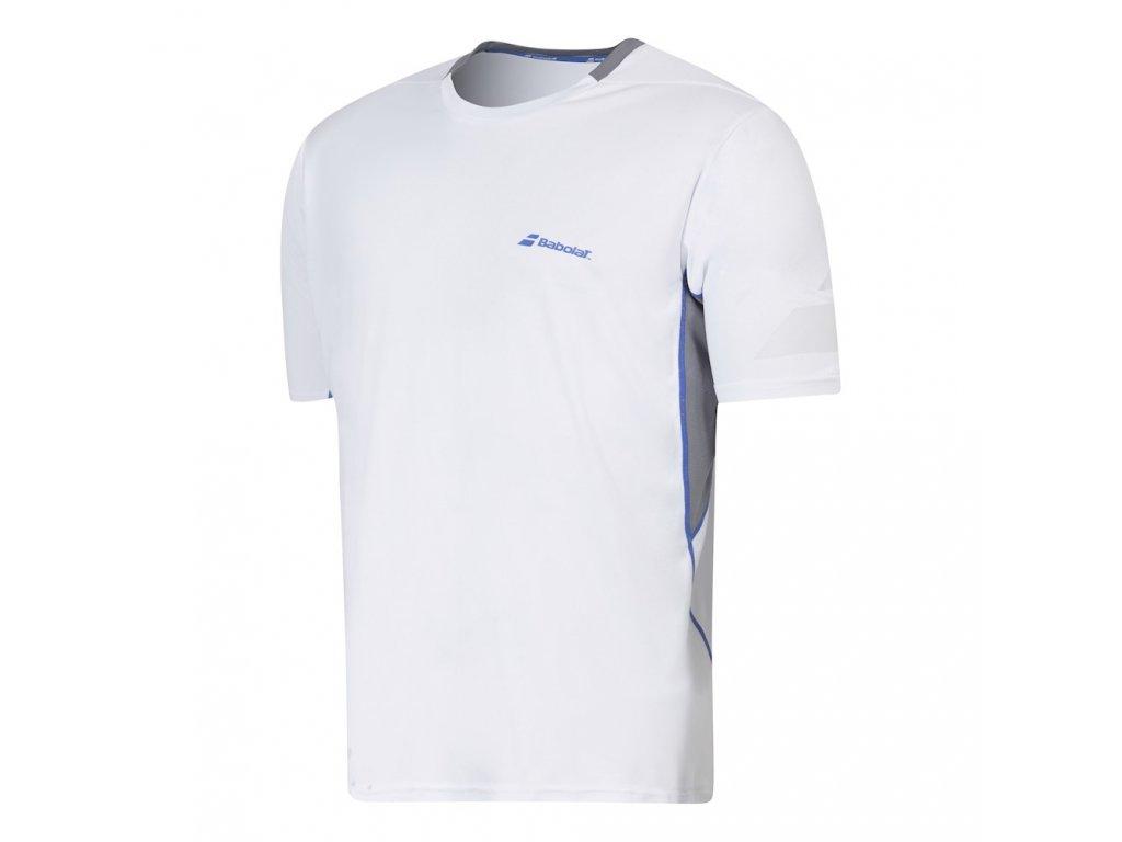 chlapecké tričko Babolat Performance Crew neck tee boy 2016 - bílé (oblečení dětské 8.X)