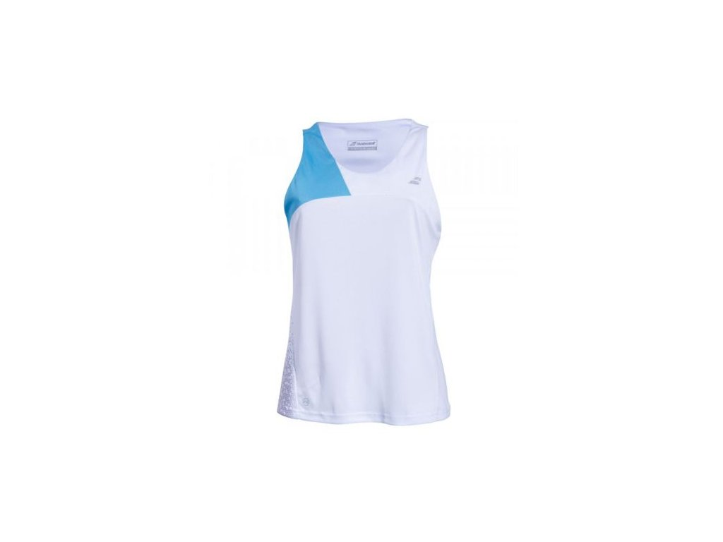 babolat perf women tank white blue