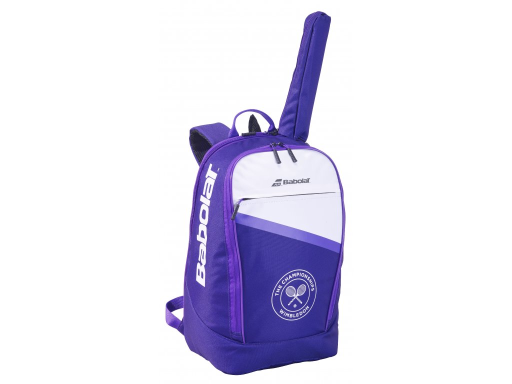753086 BACKPACK CLASSIC CLUB 167 White Purple 3 4 face