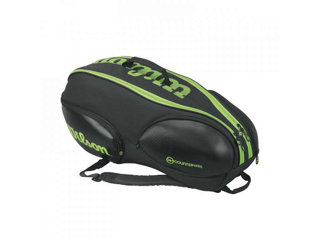 Tenisový bag Wilson Vancouver V9 Black Lime 2017