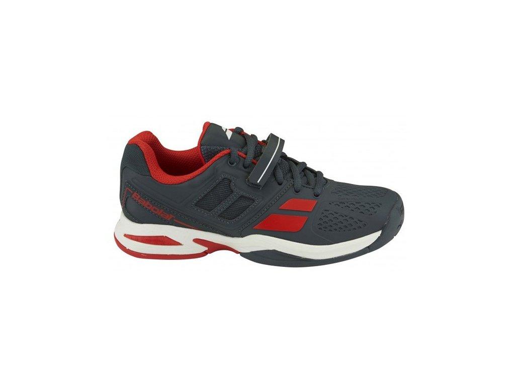 Tenisová obuv Babolat Propulse All court junior - šedá (Velikost Junior UK 6,5 EU 40)