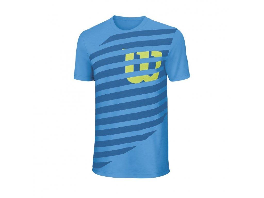 chlapecké tričko  Wilson Lined W Tech TEE (oblečení dětské 6.VIII)