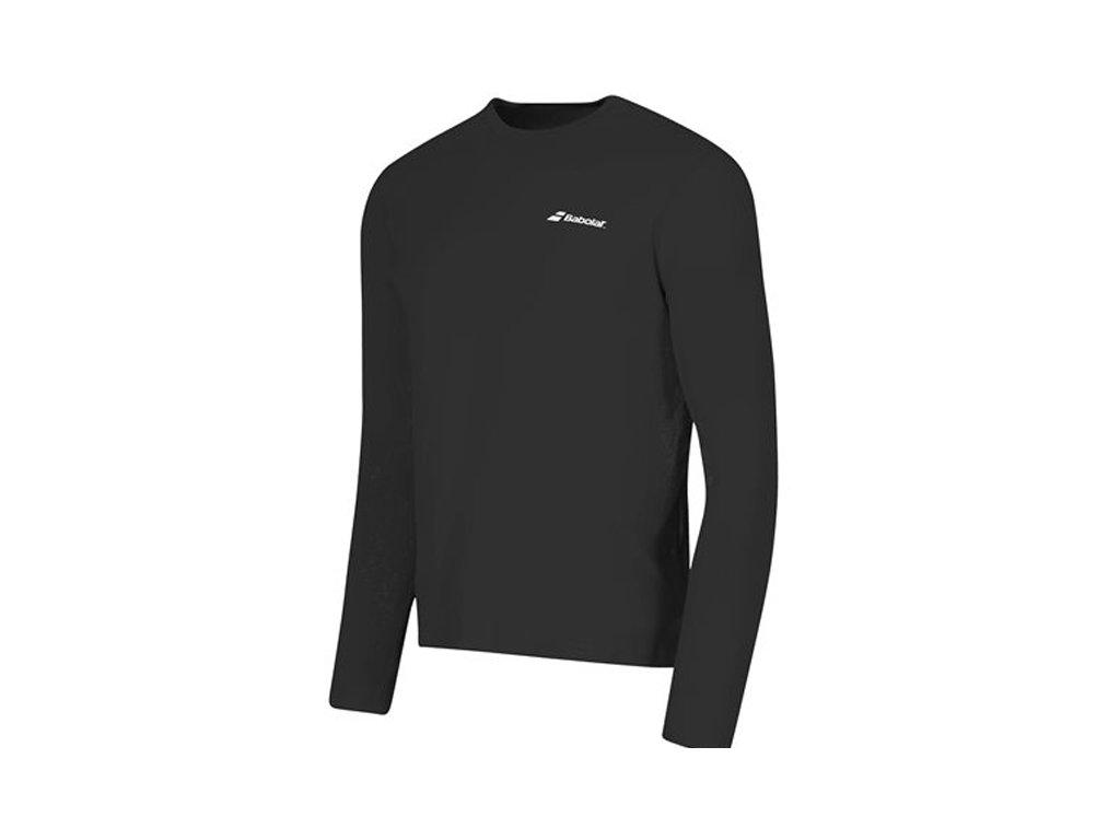 pánské tričko Babolat Long sleeves Tee men - černé 2017