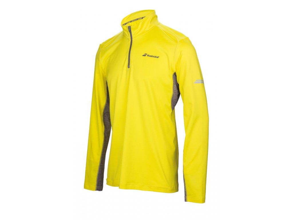 pánské tričko Babolat 1/2 Zip men - aero yellow