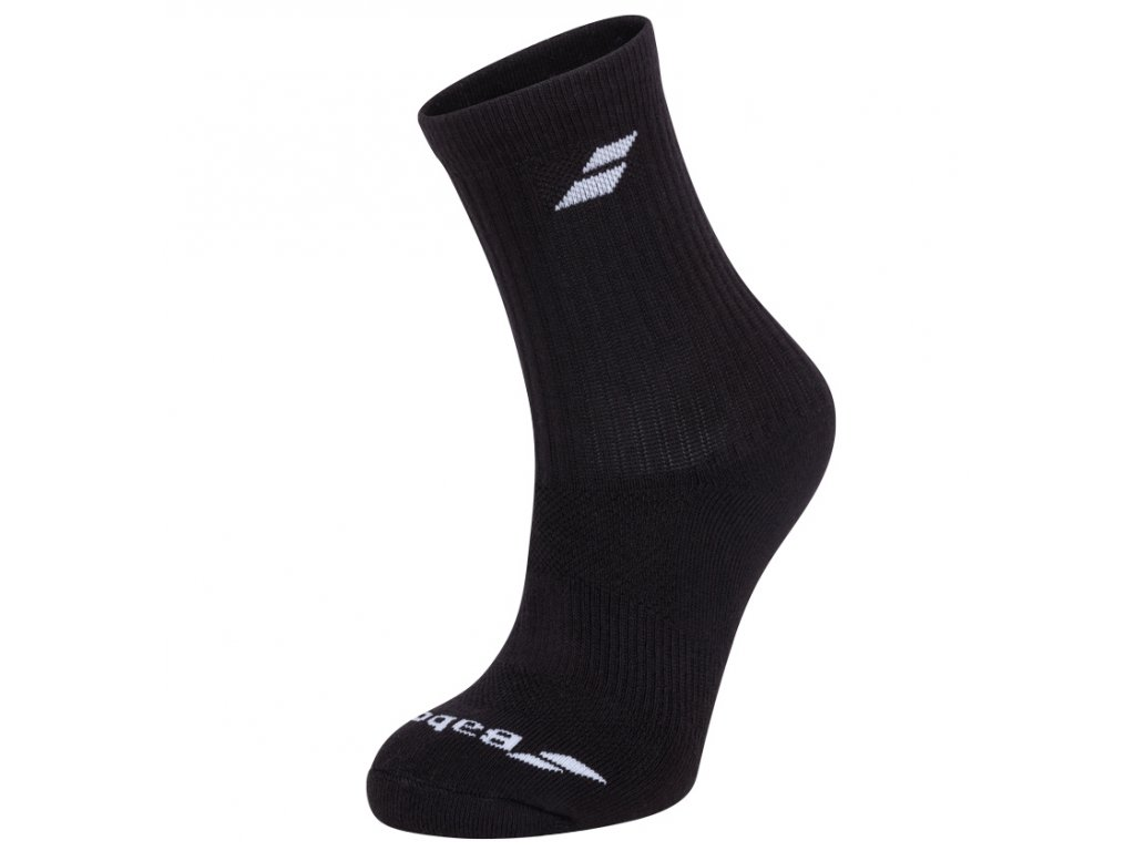 ponozky babolat 3 pairs pack black 76372