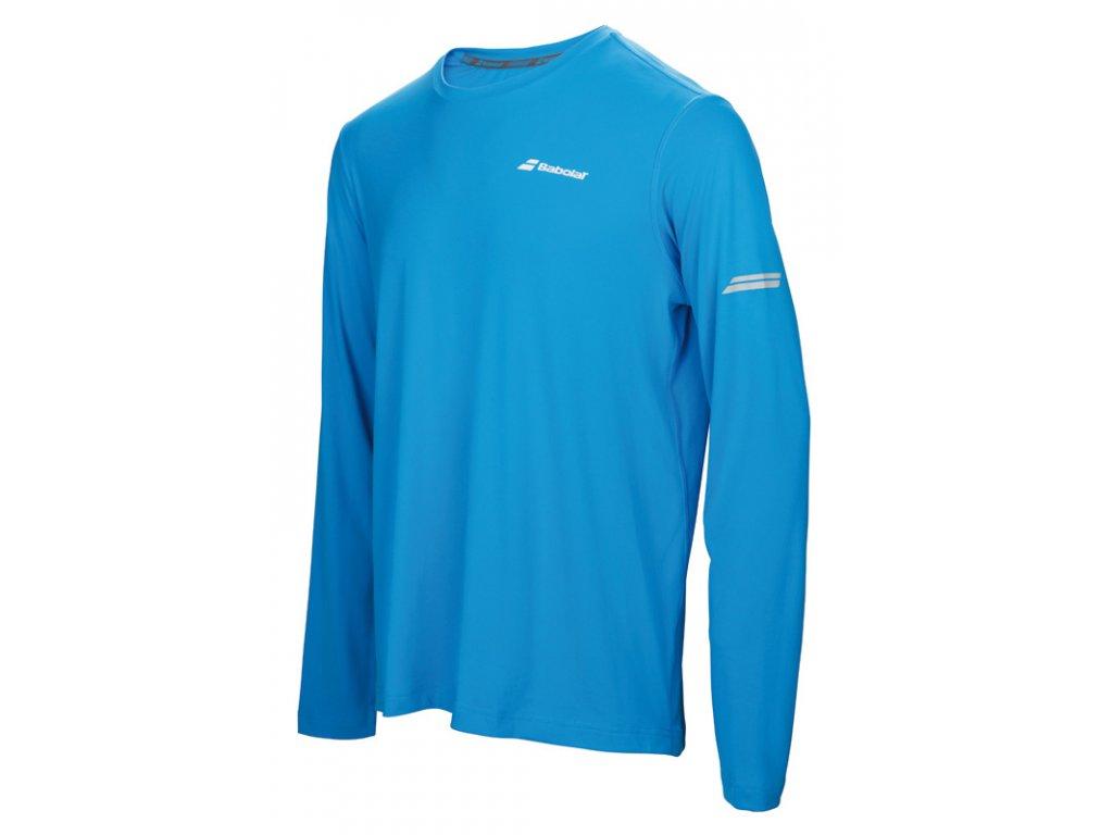 pánské tričko Babolat Long sleeves Tee men - modré 2017