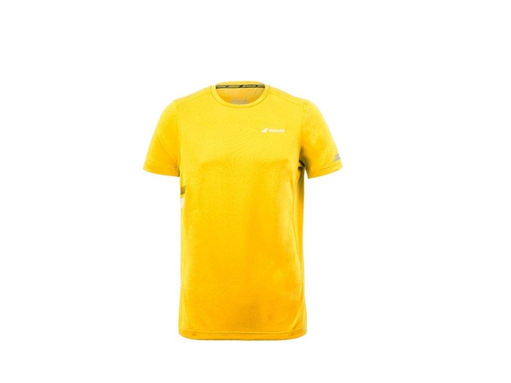pánské tričko Babolat Core Flag Club Tee - aero žlutá