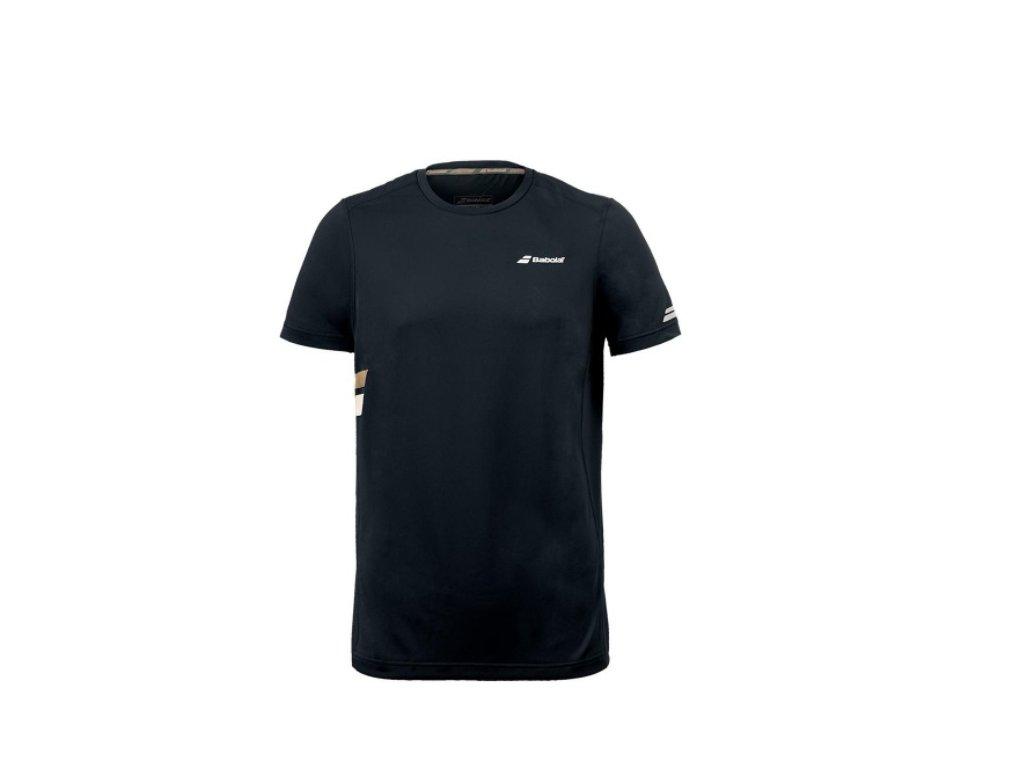 pánské tričko Babolat Core Flag Club Tee - černé