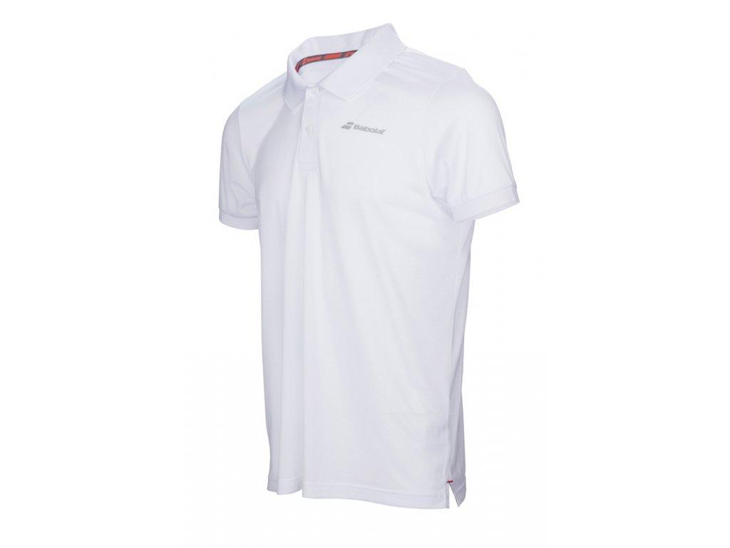 pánská polokošile Babolat Core Club Polo - bílá
