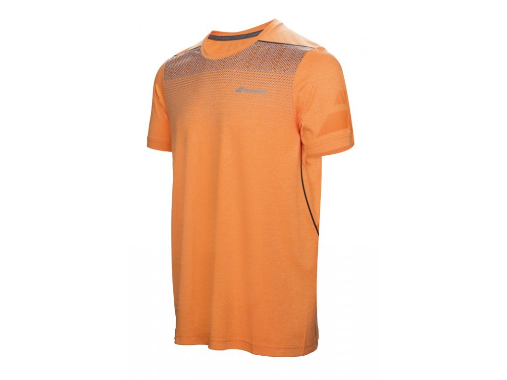 pánské tričko Babolat Perf Crew Neck Tee  - oranžové