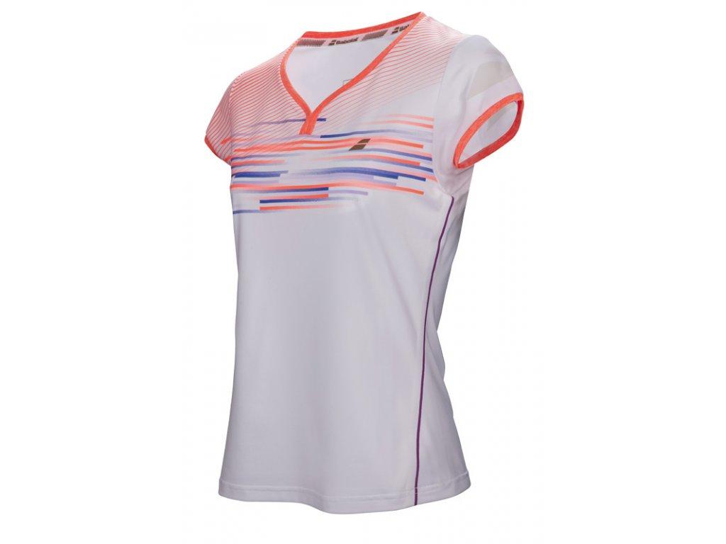 Dívčí sportovní tričko Babolat  Perf Cap sleeve top girl - bílé 2017