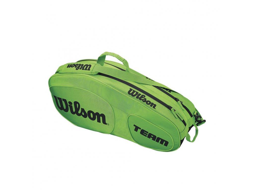 Tenisový bag Wilson TEAM III 6 Pack green/black