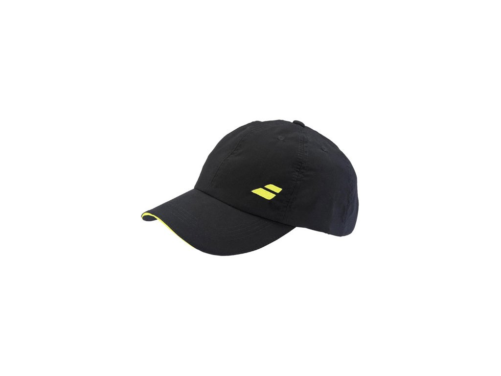 288961 ksiltovka babolat basic logo cap black yellow 56337m