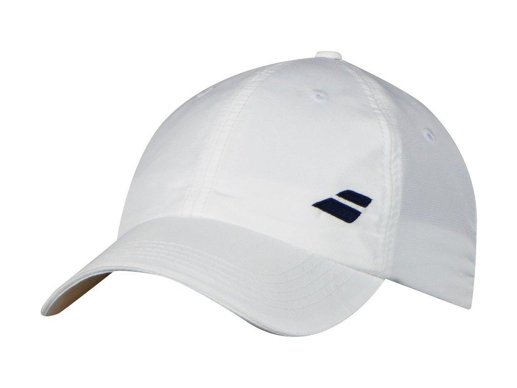 Babolat Basic logo cap junior - bílá černé logo