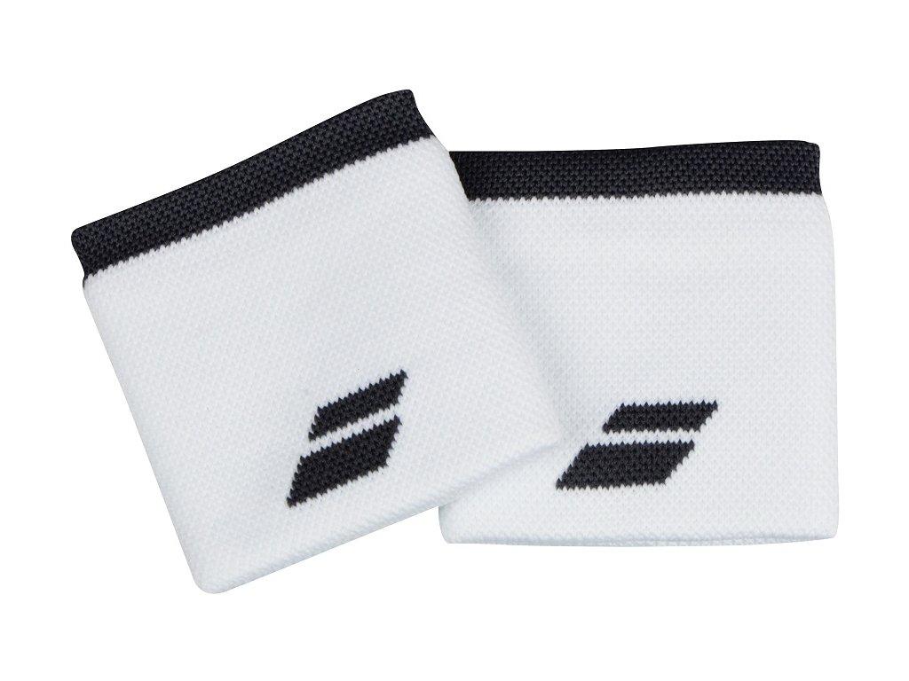 Tenisová potítka Babolat Logo Wristband - bílé