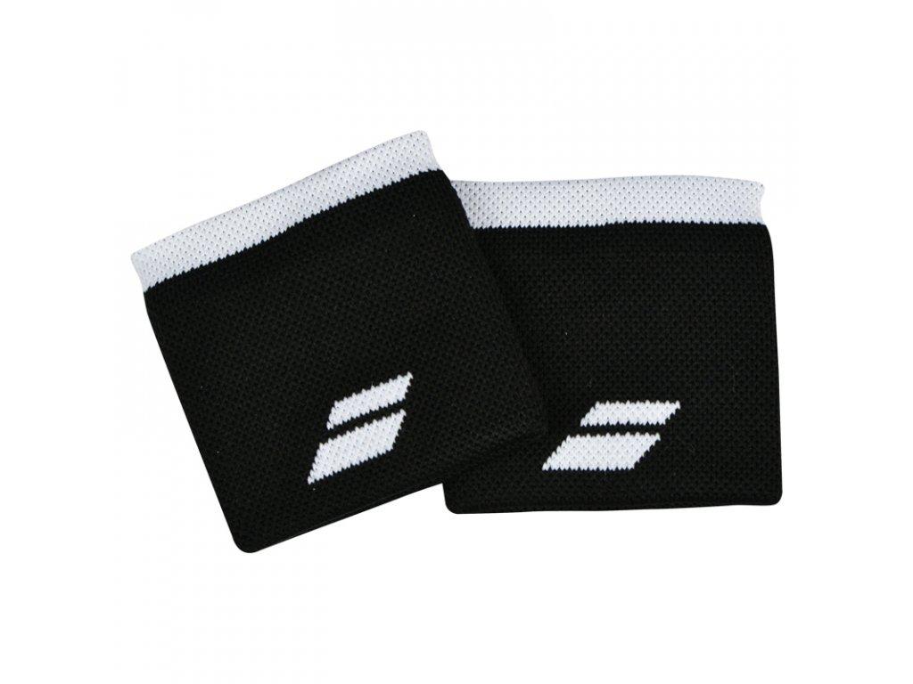 Tenisová potítka Babolat Logo Wristband - černe