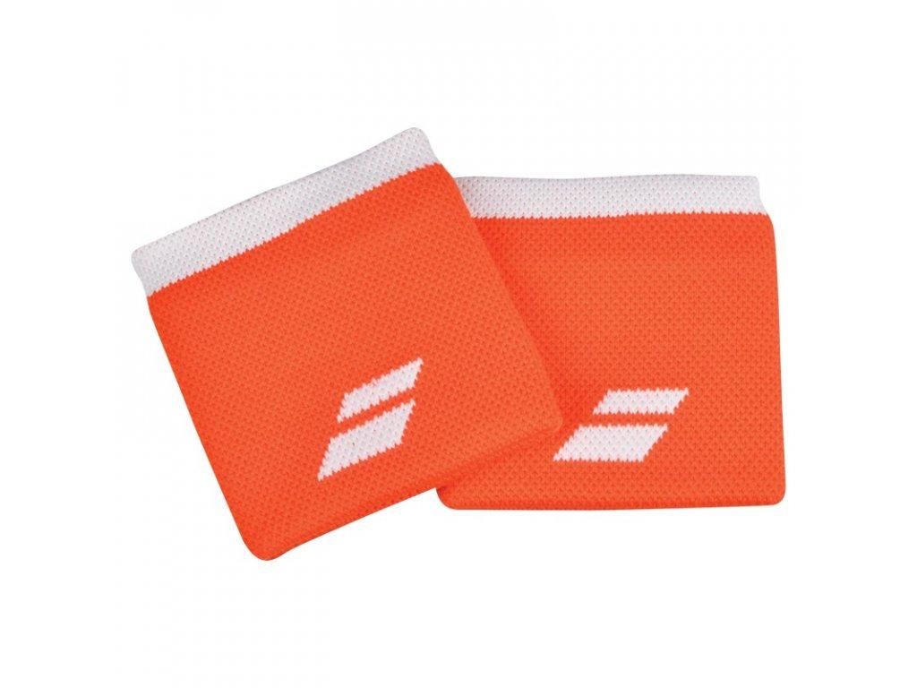 Tenisová potítka Babolat Logo Wristband - oranžové