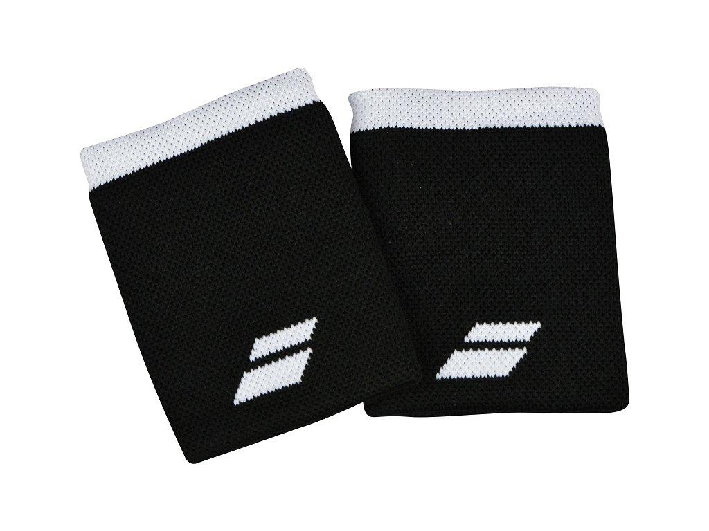 Tenisová potítka Babolat Logo Jumbo Wristband - černé