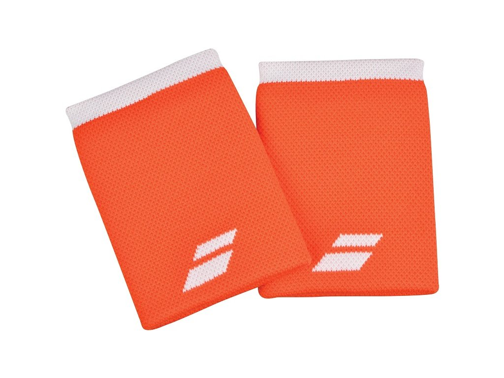 Tenisová potítka Babolat Logo Jumbo Wristband - oranžové