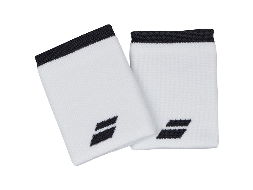 Tenisová potítka Babolat Logo Jumbo Wristband - bílé