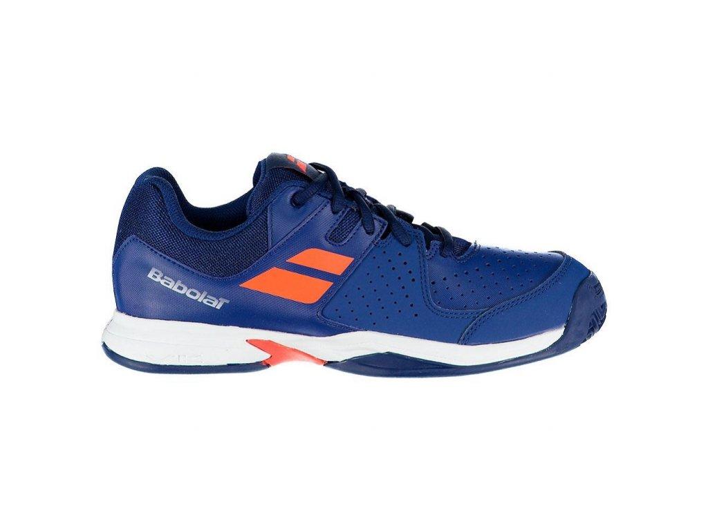 tenisová obuv Babolat Pulsion Clay Junior - tmavě modré
