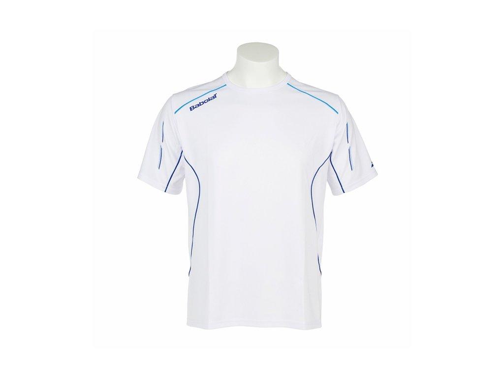 pánské tričko Babolat T - Shirt Men Match Core - bílé 2014 (Oblečení pánské XXL)