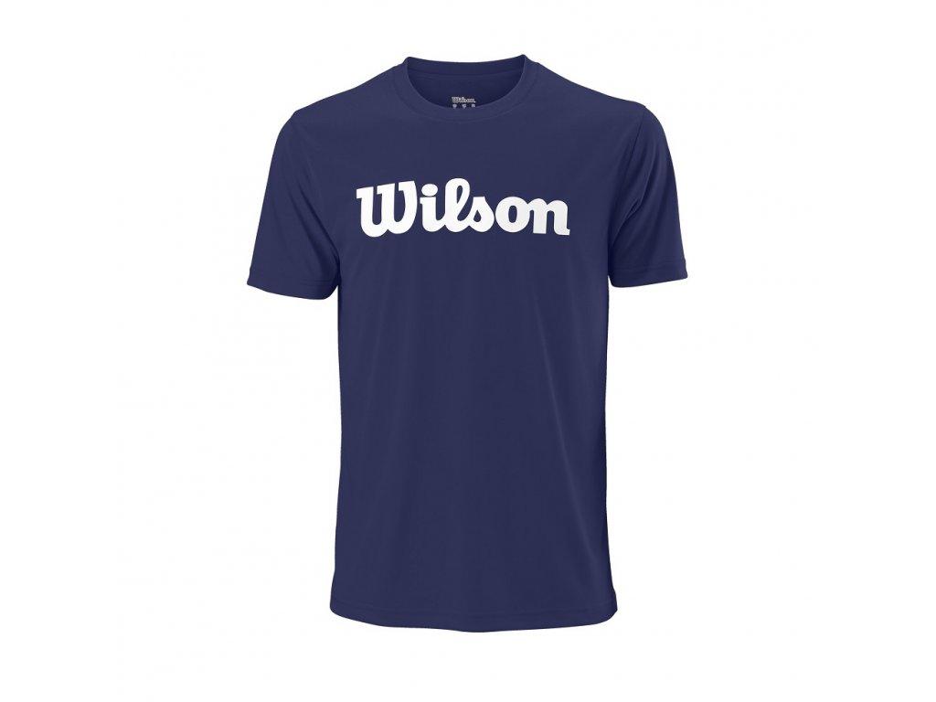 chlapecké tričko  Wilson Y SCRIPT COTTON TEE Blue