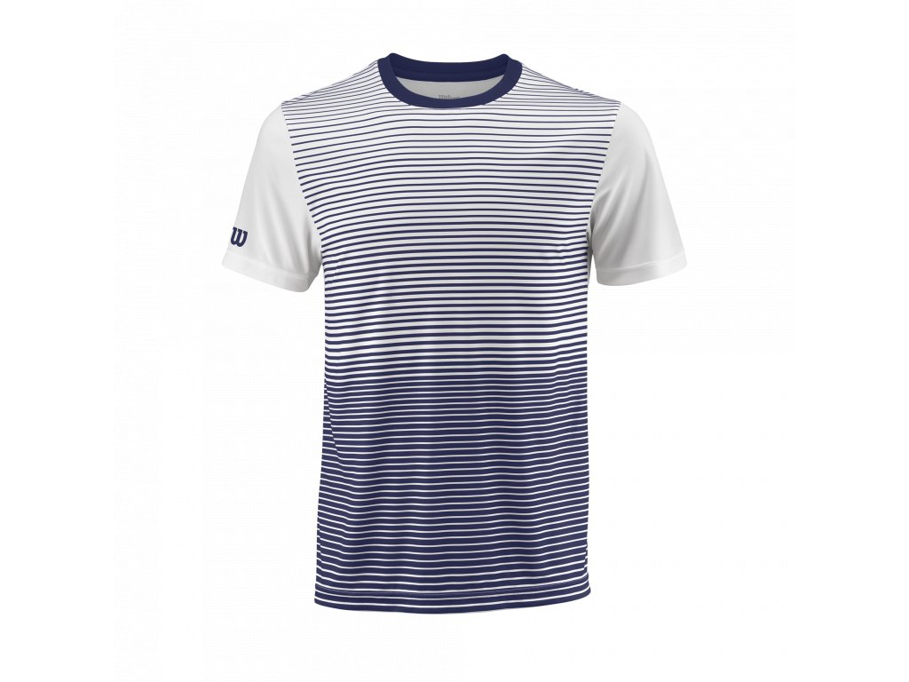 WRA769703 SS18 Team M Team Striped Crew Mens BlueDepths White Front
