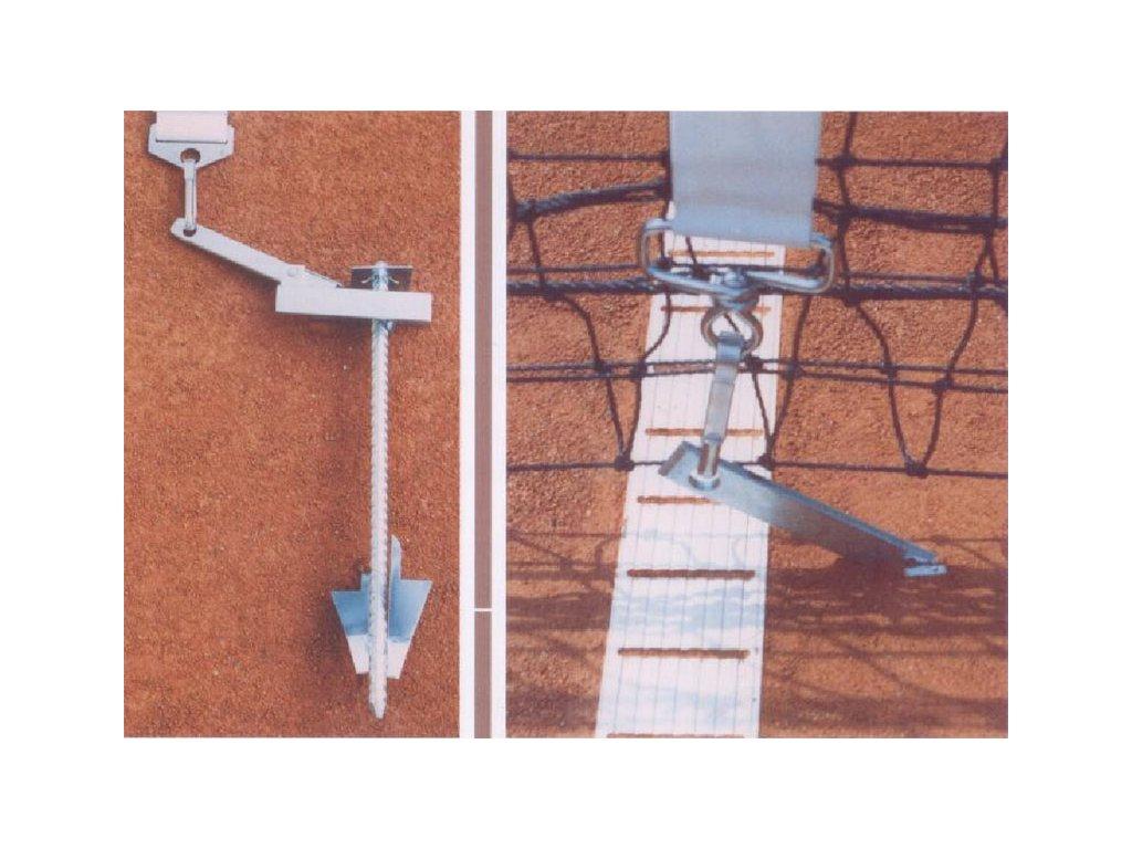 Tenis Praktika nastavitelné ukotvení pro středovou pásku